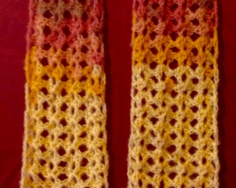 Painted desert crochet scarf