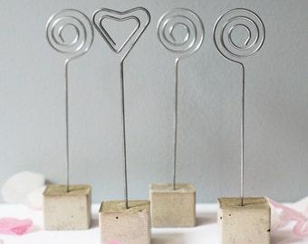 Concrete Memo Clip, Photo Holder, Card Holder, Wedding Name Holder