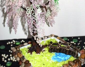 Sakura Beaded Tree Sculpture!