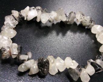 Bracelet of Tourmaline in quartz