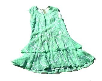 Vintage Dress - Ra Ra Dress - Mini Dress - Summer Dress - 1980's