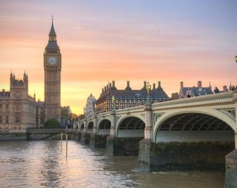 Big Ben at Sunset, London UK - Fine Art Print by Meleah Reardon
