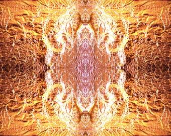 art print - golden mandala