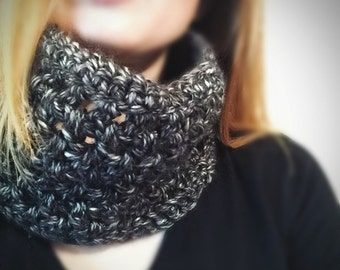 Knit Neck Warmer - Charcoal