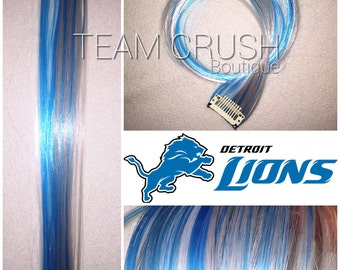 "DETROIT LIONS 18"" Clip-In Hair Extension Set - 4 PIECES!"