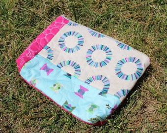 READY TO SHIP  Large Cosmetic Bag Zipper Pouch