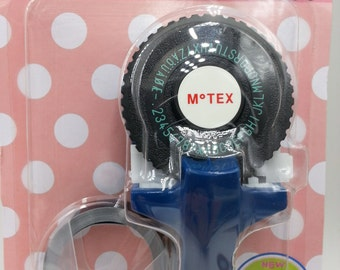 NEW Motex E101 handheld embossing label maker with 9mm tape 1 roll - 1 set