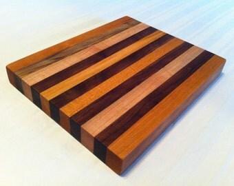 Walnut, Cherry and Maple Wood cutting board
