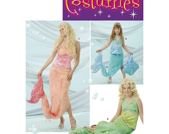 Sewing Pattern for Matching Mermaid Costumes for Misses, Child & Girl Sizes,Simplicity Pattern 4043, Halloween Costume, All Sizes Included