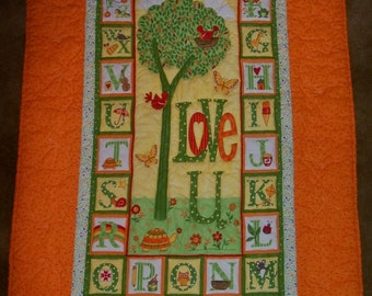 Alphabet Baby or Toddler Quilt - Perfect Gift!