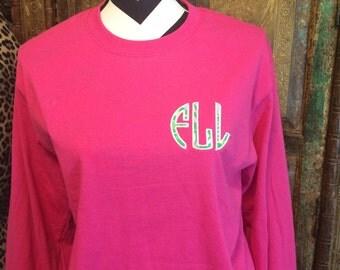 Lilly Pulitzer monogram shirt