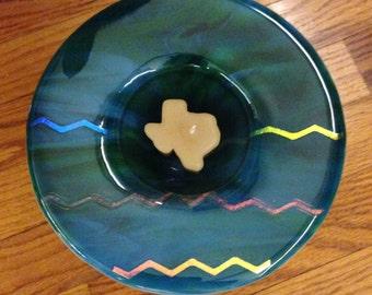 Sunken Glass Candle Holder