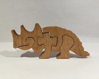 Wooden Triceratops Puzzle