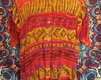 Button Down Aztec Shirt
