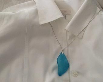 Gorgeous blue Sea Glass necklace