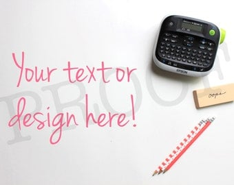 SALE! Darling Label Maker Styled Stock Photo