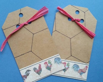 Rooster gift tags