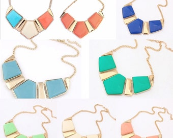 Pentagon chunky necklace