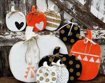 Rustic Wooden Pumpkin | Wood Pumpkin | Rustic Fall decor | Porch Decor | Pumpkin decor | Harvest Decor | Farmhouse Fall decor | Farmhouse
