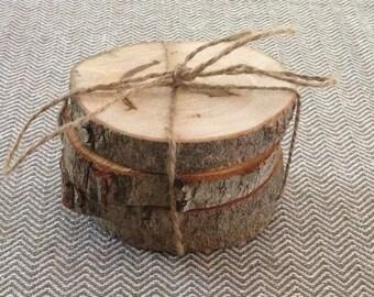 Natural wood coasters (4)
