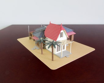 Architectural Model of Satsuki and Mei's House  from Studio Ghibli's My Neighbor Totoro