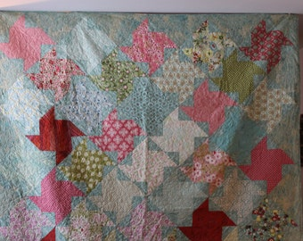 Turquoise Queen Size Quilt
