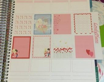 Planner Stickers: Valentine Love Theme full boxes