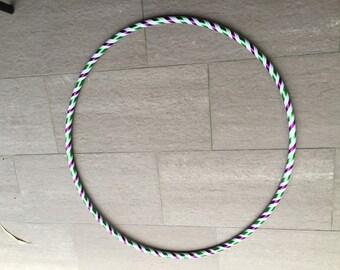 Purple, Green and white Hula Hoop