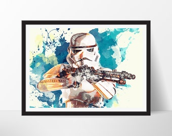 Stormtrooper Poster, Stormtrooper Poster, Stormtrooper Art Print, Movie Poster, Stormtrooper Illustration, Stormtrooper Art Print