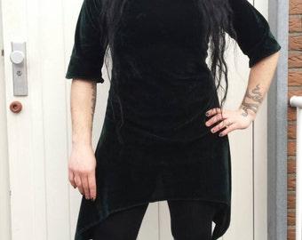 Dark green velvety dress