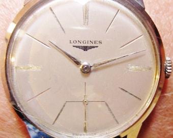 Superb Gents 1950s Stainless Steel Longines Mechanical 12.68Z Bracelet Watch Professionally Serviced 6 Months Warranty