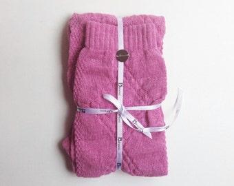 wool cashmere pink PJsocks
