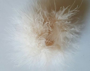 Cream marabou puff feather hairbows cream marabou puff hairbow supplies feather puff