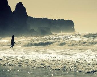 rough sea at beach in Portugal algarve