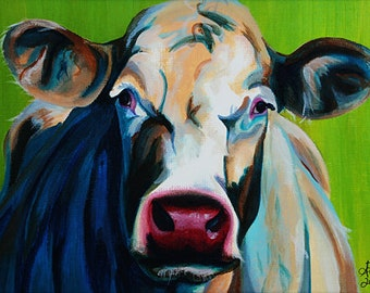 Ingrid (original acrylic painting of a cow)