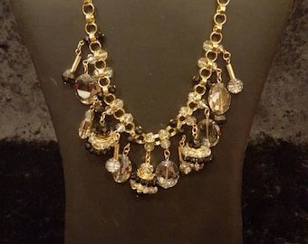 Statement Necklace, Chunky Chain Link, Beautiful, Gold Toned Chain, Boho Necklace, Designer Inspired, Unique Necklace, Stunning, Fun