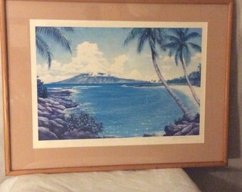 "Clearance sale-Richard Fields ""Kapalua Bay"" limited edition lithograph print"