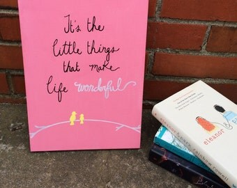 It's the little things Custom Big/Little Canvas