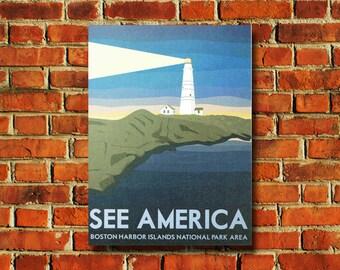 See America Boston Harbor Islands Poster - #0658