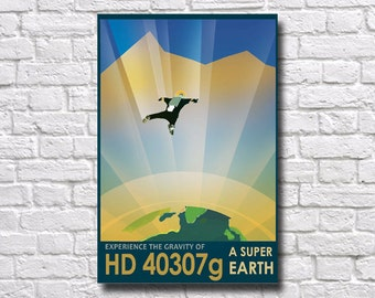 NASA HD 40307g Super Earth Poster - #350