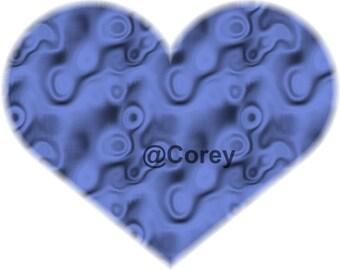 Purple Biology Heart