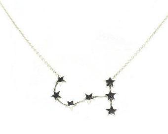 Scorpio Necklace - Sterling Silver Star Sign Constellation Zodiac Horrorscope