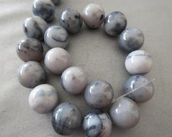 Montana Moss Agate Beads 20mm Round 20pcs