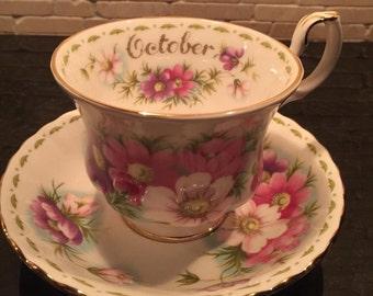 Gorgeous Royal Doulton October Tea Cup  beautiful floral design