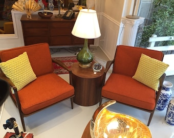 2 Original mid century Danish arm chairs Selig Chair by Designer Ib Kofod Larsen from Denmark