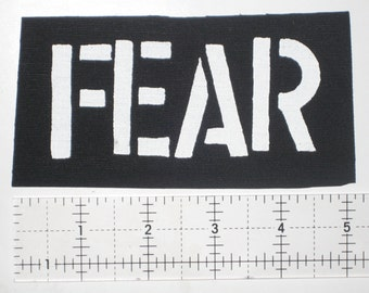 Fear Patch - DIY Punk Dead Kennedys Misfits Black Flag Bad Religion Social Distortion GBH D.R.I. Agnostic Front Circle Jerks Wasted Youth