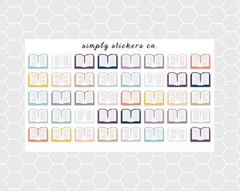Open Book Planner Stickers