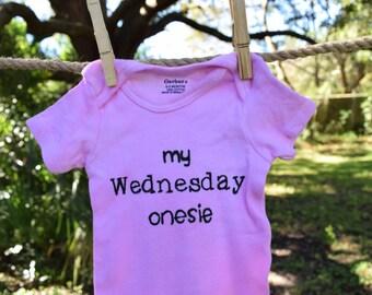 My Wednesday Onesie, size 0-3 mos