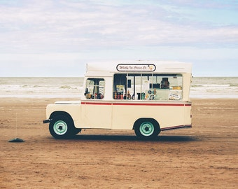 Ice Cream Van, Whitby, Wall Art, Home Decor, Landscape, Travel photography, Home Decor, Art Print,