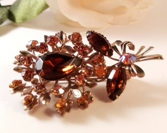 Vintage Brooch Fall Colors  **FREE SHIPPING**